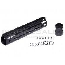 "RIS Ares Octa Arms 10"" Keymod System Handguard Set (Black)"
